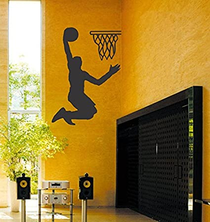 3b2076822373 Buy Home Decor Tattoos BASKETBALL Wall Stickers-26X36(Inch) Online at Low  Prices in India - Amazon.in