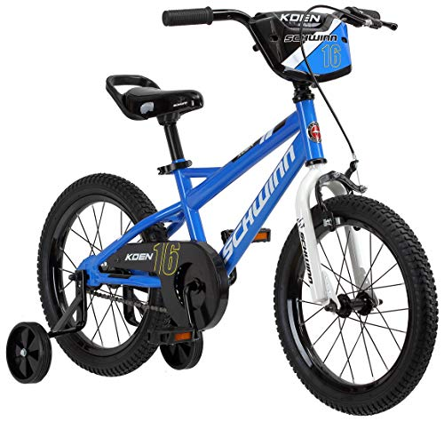 16in Blue Seat (Schwinn Koen Boy's Bike with SmartStart, 16