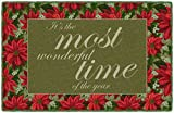Brumlow Mills EW10234-30x46 Most Wonderful Time Christmas Kitchen and Entryway Holiday Rug, 2'6