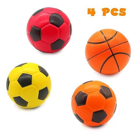 ea4c5ec1a96bf TONZE Pelota Futbol Baloncesto Pelota Espuma Piscina Balon Fiesta Juegos de  Interior y de Interior para