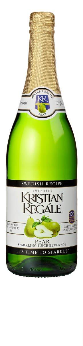 Kristian Regale Sparkling Pear Beverage, 25.4 Ounce Bottles (Pack of 4)