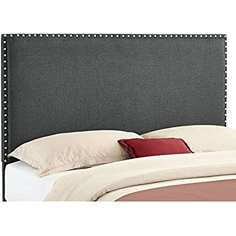 Linon Contemporary Headboard Full Queen Charcoal