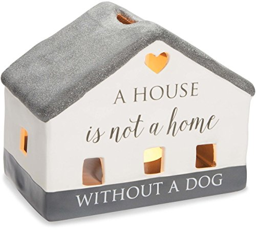 Love Porcelain (Pavilion Gift Company 86204 Love Lives Here - A House Is Not A Home Without A Dog Porcelain House Candle Holder)
