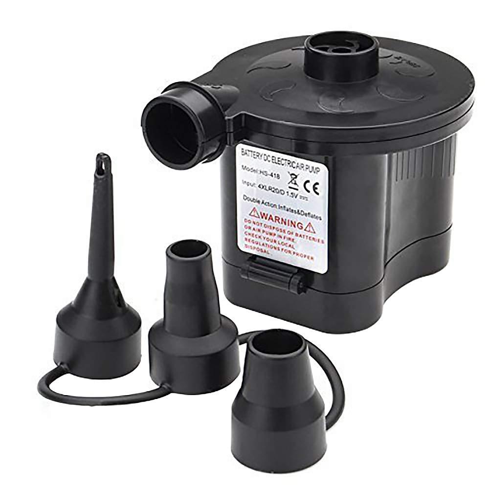 OBEST NIU 4D Baterías Bomba de Aire Eléctrica Incluyendo 3 Accesorios para Hinchar y Deshinchar Camas