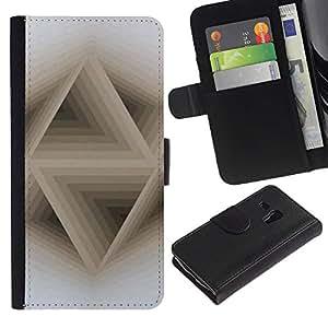 Motif - la tarjeta de Crédito Slots PU Funda de cuero Monedero caso cubierta de piel ParaSamsung Galaxy S3 MINI i8190 (NOT S3)