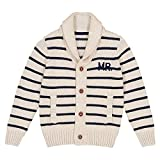#5: La Redoute Collections Big Boys Striped Cardigan with Shawl Collar, 3-12 Years