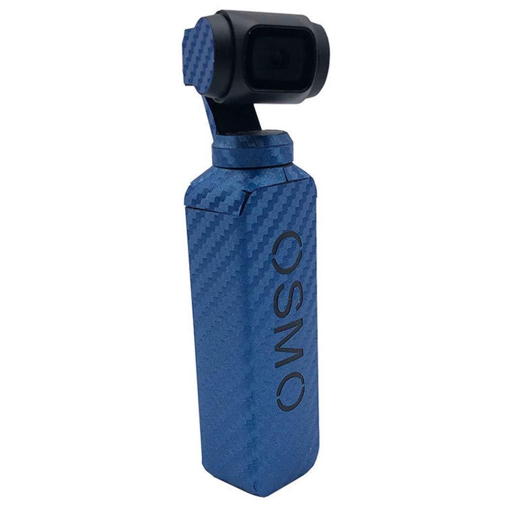 Suppion 防水 PVC カーボンファイバー スキン ラップ グレイン グラフィック ステッカー DJI OSMO ポケット用 B07M8WN959  ブルー