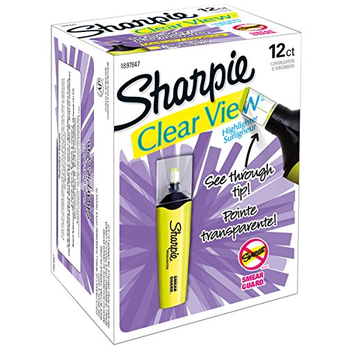 Brand New Sharpie Clear View Highlighter-Yellow Brand New