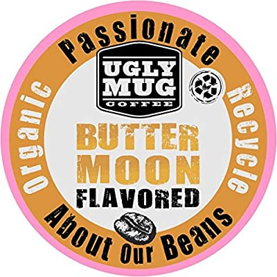SALE:Ugly Mug Coffee Recyclable Organic Butter Moon Flavored K CUPS 60 count (Keurig compatible)