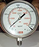 High Pressure Gauge 0 - 2000 BAR / 0-30000 PSI, Dual scale, S.S. Heavy Duty - Ideal for Common Rail Testing Apllication