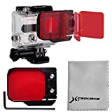 XCSOURCE® Red Underwater(10-20m) Sea Dive Color Filter For Camera Gopro HERO 3 LF384