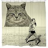 Attack 50 ft Feline Shower Curtain