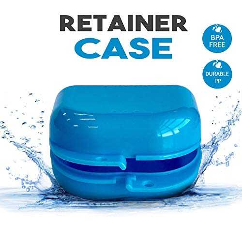 Retainer Case - 5 Durable Retainer Cases with Vent Holes For Orthodontic Retainer, Invisalign, MouthGuard and Denture Storage.The Container has Tight Snap Lock, Light and Easy for Travel. Color ()