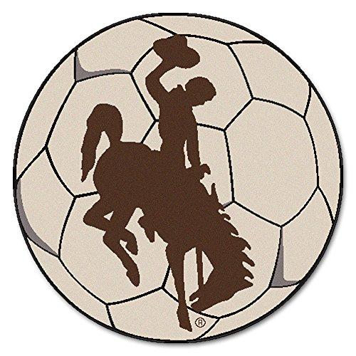 Cowboys Soccer Ball Mat - Fan Mats University of Wyoming Cowboys Soccer Ball Rug