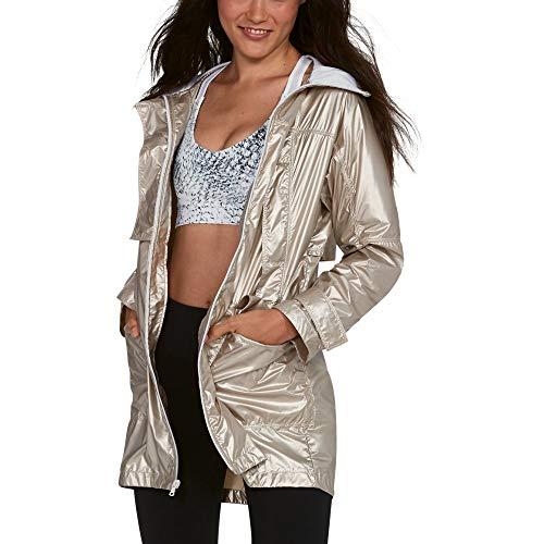 (Under Armour Women's UA Metallic Anorak Jacket XS Metallic)