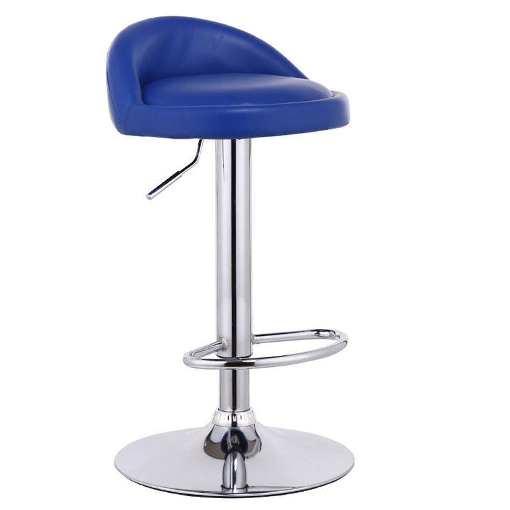 チェア ミニマリストバーチェア/フロントリフトハイスツール/ヨーロピアンスイベルチェアバースツール/ファッションバーチェアハイスツール (色 : 青) B07FGDTL3V青