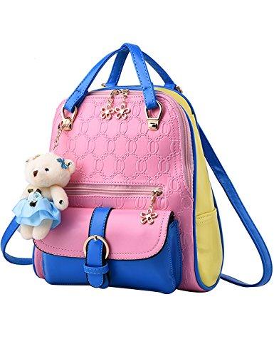 Menschwear Moda Mujer Chica funda mochila escolar bolsa Negro Blanco Rosa Azul