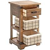 Deco 79 53255 Wood Metal Basket Side Table, 16 x 29