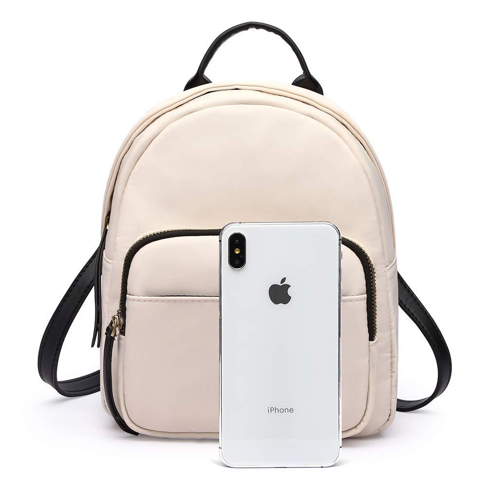 HaloVa Womens Backpack Black Multifunction Daypack Satchel Crossbody Bag for Girls Lady Mini Shoulders Bag