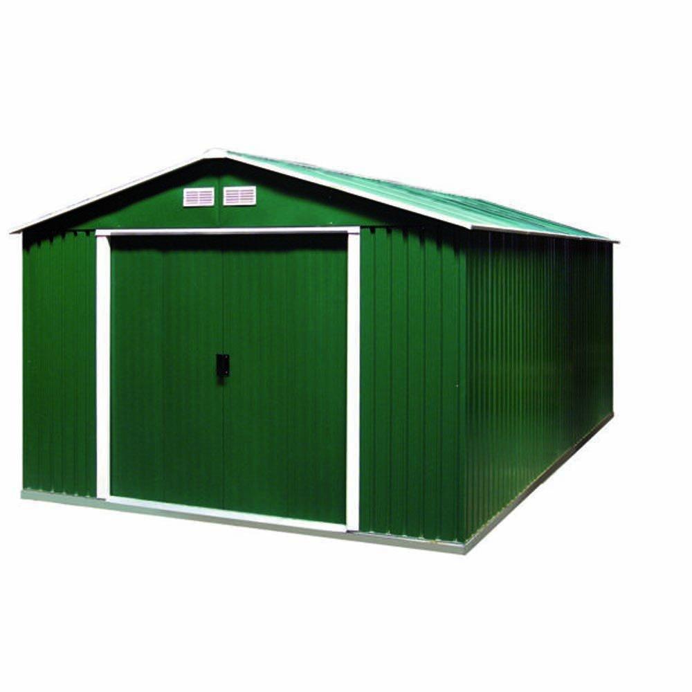 Tepro Gartenhaus / Metallgerätehaus Colossus 10x12 grün