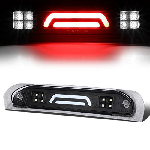 Oem Replacement Brake Bar - For 02-09 Dodge RAM Truck All 3D LED Bar 3rd Third Tail Brake Light Rear Cargo Lamp (Black/Clear)