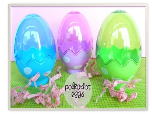 Plastic Fillable Easter Eggs Containers by Greenbrier ()