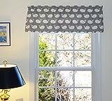 Cheap Grey Window Treatment Curtain Valance Nautical Whales Gray