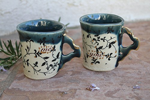 You and Me Espresso Cup set handmade ceramic dinnerware