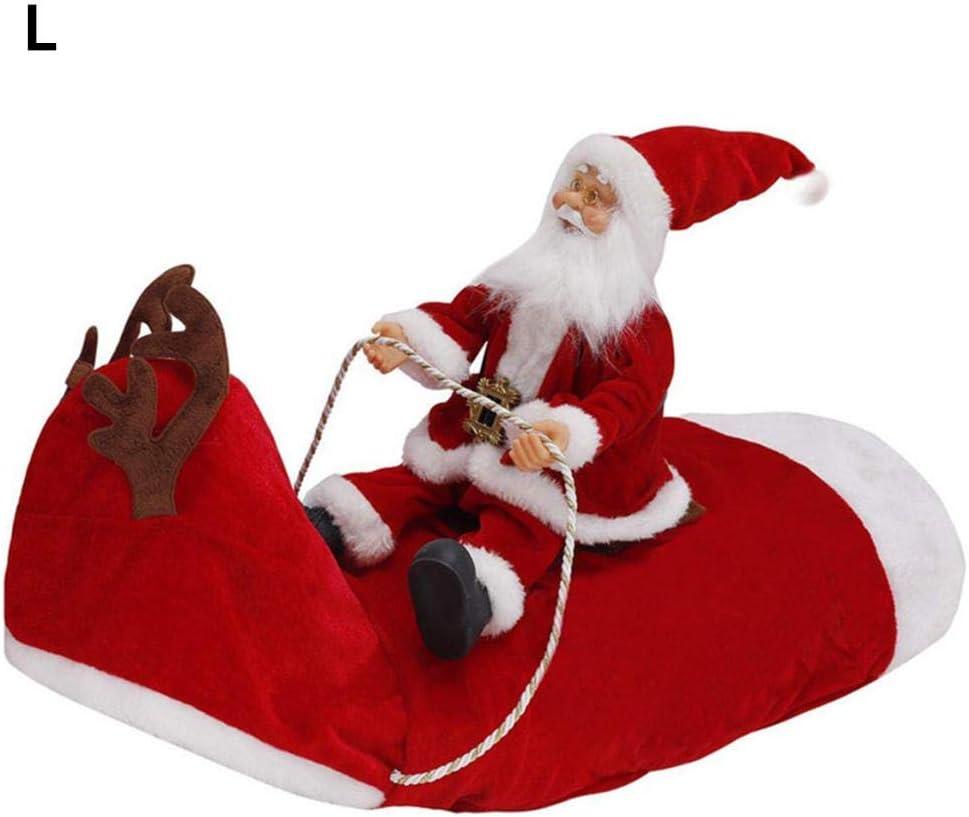Sponsi Disfraz de Navidad para Mascotas, Montar Disfraz de Perros de Ciervo, Disfraz de Navidad para Correr, Montar a Caballo de Santa en Trajes de Gato para Mascotas Big Sale