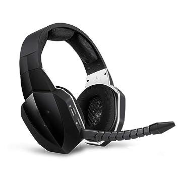 XPFFXX Auriculares Inalámbricos 7.1 Auriculares De Juego con Sonido Envolvente Virtual con Micrófono para Los Jugadores De La Computadora Ps4, ...