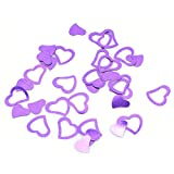 VWH Purple Heart-shaped Wedding Confetti Spilled DIY Celebrations Party Supplies