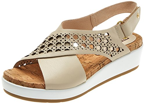 Sandale Femme marfil W1g Mykonos Compensées Pikolinos Beige cfxqgwvSnz