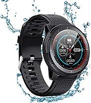 XFTOPSE Relógio inteligente para telefones Android, compatível com mensagens e chamadas iPhone Samsung, monito