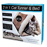 2 - in - 1 Cat Tunnel Bed Pet Bedding Set Indoor Sleep Rest Play Unique with heating layer for Cat Kitten Dog Puppy Pyramid hot
