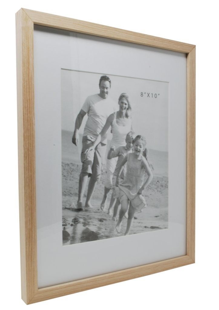 12x15 Beige Photo Picture Frame-Matted to Fit 8x10 inch Photo -Wall Mounting Hooks Included by Momentum Home (Image #1)