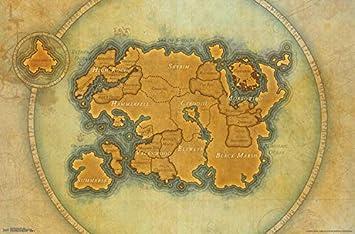 Elder Scrolls Online - Map Poster Drucken (86,36 x 55,88 cm): Amazon ...