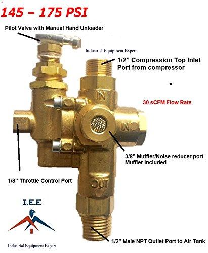 GAS Air Compressor Pilot check valve unloader valve combo...