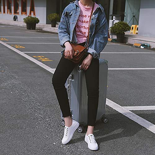 novità Tonda Side Da Sneakers verde Punta A Scarpe drappeggiato Rosa Comfort Piatte Pink estate Tacco Pu Primavera Zhznvx Nero poliuretano Donna g8AwSxqZ6