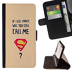 Jordan Colourful Shop - FOR Samsung Galaxy Note 4 IV - if i go crazy - Leather Case Absorci¨®n cubierta de la caja de alto impacto