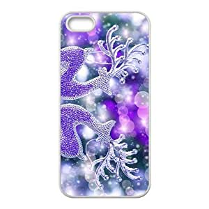 linJUN FENGThe Beautiful Crystal Elks Hight Quality Plastic Case for Iphone 5s