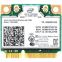intel Dual Band Wireless-AC 7260 7260HMW Half Mini PCIe PCI-express WLAN WIFI Card Module 802.11 ac 867Mbps BlueTooth BT 04W3814 for IBM Lenovo