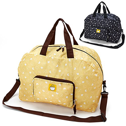sanrio-gudetama-folding-boston-bag-yellow-from-japan-new