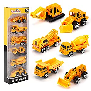 Best Epic Trends 516o-lzZ0lL._SS300_ Alloy Truck Mini Pocket Size Construction Models Play Vehicles Toy Trucks for Boys Age 2 3 4 ,Kids Party Favors Cake…