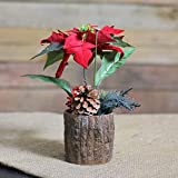 Northlight NL00066 Artificial Poinsettia Decorative Potted