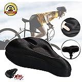 Bike Seat Cushion Gel Bike Seat Cover Comfortable Bicycle Seat Cushion Soft Padded Bike Seat Cover for Spin Bike Mountain and Training Bike Indoor Cycling