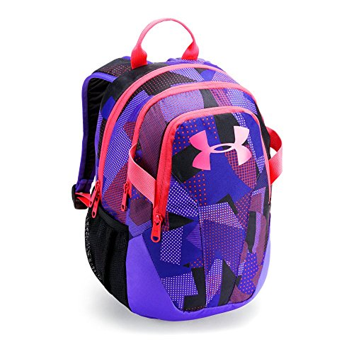 Under Armour Unisex Kids' Medium Fry Backpack, White (101)/Penta Pink, One Size