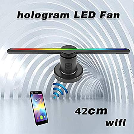 YLIK 3D holográfica de la lámpara del Ventilador, LED 3D