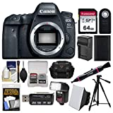 Canon EOS 6D Mark II Wi-Fi Digital SLR Camera Body with 64GB Card + Case + Flash + Battery & Charger + Tripod + Remote Kit Review