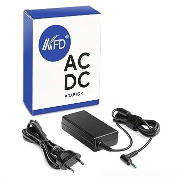 KFD Adaptador Cargador Portátil 19.5V 65W para HP 255 G5 15 215 240 245 250 G5 255 G2 G3 15-BC450NS Ordenador portátil de 15.6