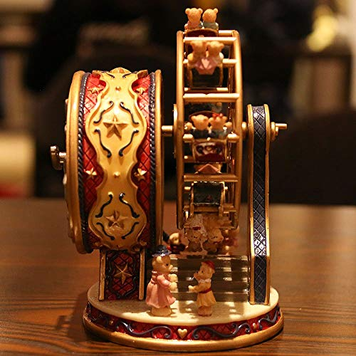 ASNOMY Personalized Rotating Ferris Wheel Music Box for Girls or Boys' Birthday, Music Box Melody Canon(Canon) by ASNOMY (Image #3)